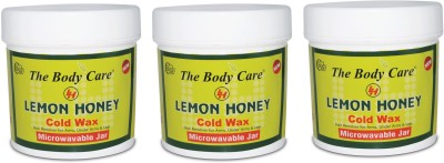 the body care lemon honey cold wax 200g pack of 3