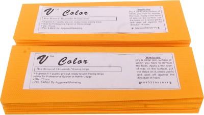 V-Color Waxing Strips - Orange-140 Pcs