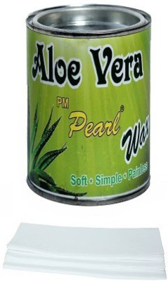 Pm Pearl Hair Removal Aloe Vera Wax With Strips