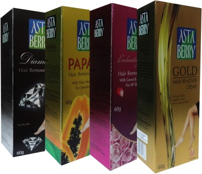 Astaberry Hair Removal Cream-Pack of 4