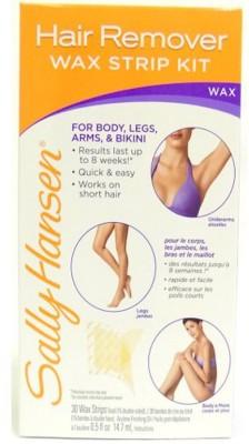 Sally Hansen Hair Remover Wax Strip Kit for Body, Legs, Arms, & Bikini