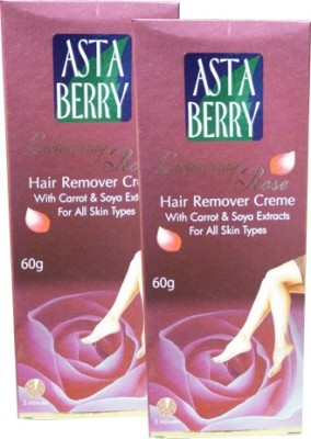 Astaberry Rose Hair Remover Cream-Pack of 2