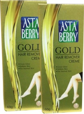 Astaberry Gold Hair Remover Cream-Pack of 2