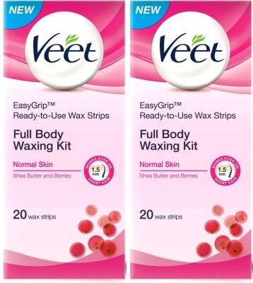 Veet Full Body Waxing Kit Normal (Pack of 2)