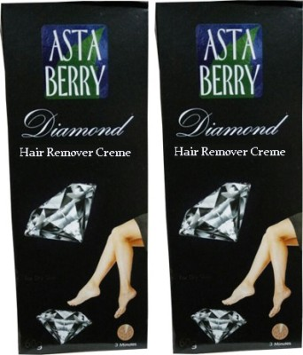Astaberry Diamond Hair Remover Cream-Pack of 2