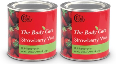 the body care strawberry hot wax 600g pack of 2