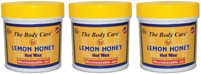 the body care lemon honey hot wax 200g pack of 3