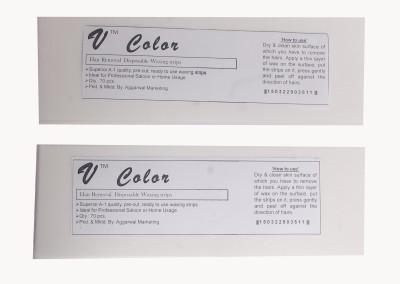 V-Color Waxing Strips - White-140 Pcs