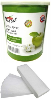 Out Of Box Beeone Green Apple Milky Wax and 100 Strips(800 g)