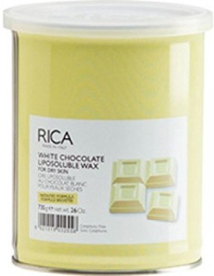 Rica Liposoluble Wax-White Chocolate-For Dry Skin 800Ml (28.2 Fl.Oz.).