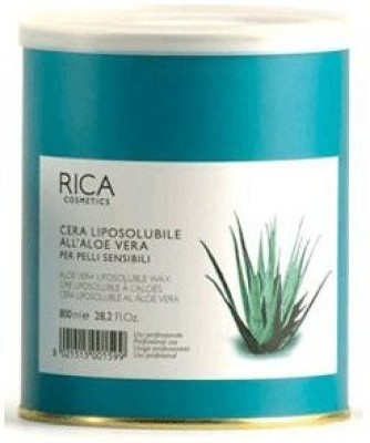 Rica Liposoluble Wax- Aloe Vera Wax-For Sensitive Skin 800Ml (28.2 Fl.Oz.)