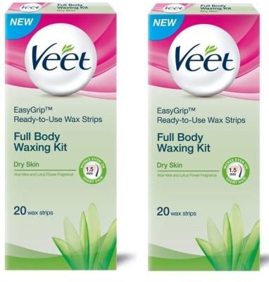 Veet Full Body Waxing Kit Dry (Pack of 2)