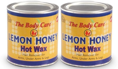 the body care lemon honey hot wax 600g pack of 2