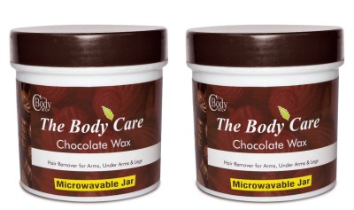 the body care chocolate hot wax 200g pack of 2