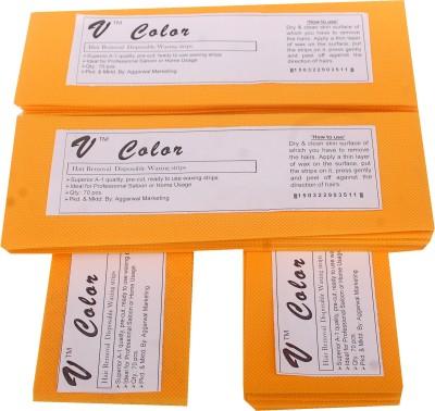 V-Color Waxing Strips - Orange-280 Pcs