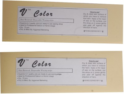 V-Color Waxing Strips - Ivory-140 Pcs