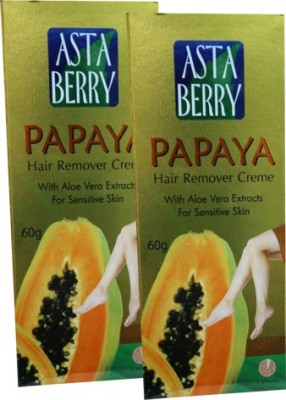 Astaberry Papaya Hair Remover Cream-Pack of 2