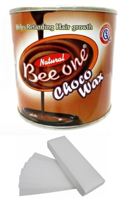 Out Of Box Beeone Chocolate Body Wax with 100 Wax Strips