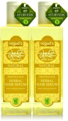 Vagads Khadi Smooth & Silk Herbal Hair Serum (100ml x 2)(200 ml)