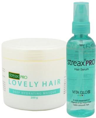 Streax Pro Hair Serum Vita Gloss 100ml Combo with Deep Hydrating Masque 200g