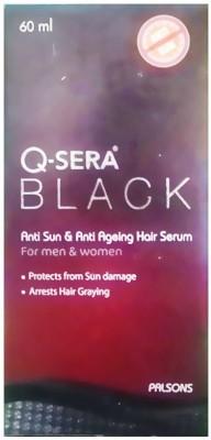 Q Sera Black Anti-Sun & Anti ageing Hair Serum