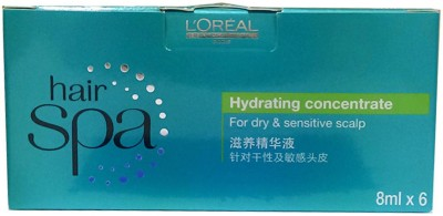 LOreal Professionnel LOreal Professionnel Hair Spa Hydrating Concentrate Hair Scalp Treatment Serum 8 ml Pack of 6(8 ml)