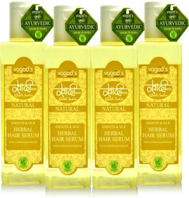 VAGAD,S Khadi Smooth & Silk Herbal Hair Serum (combo of 4)