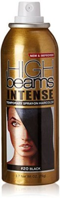 High Beams Intense Temporary Spray On Hair Color Black Hair Styler