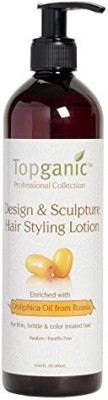 Topganic Design And Sculpture Hair Styling Lotion With Obliphica Oil Hair Styler