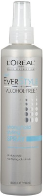 L,Oreal Paris Everstyle Strong Hold Styling Spray, Alcohol-Free Hair Styler