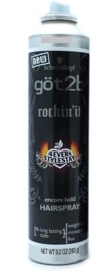 Schwarzkopf Professional Got2b Rockin,It Encore Hold Hairspray Hair Styler
