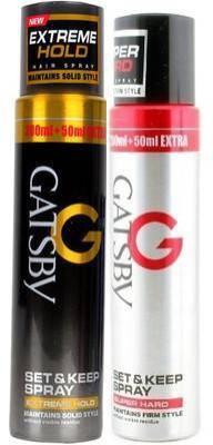 Gatsby Super hard and Extreme Hold Set Combo (pack of 2) Hair Styler