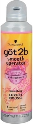 Schwarzkopf Professional Got2b Smooth Operator Smoothing Luxury Mousse Hair Styler