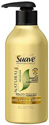 Suave Professionals Light Leave In Cream Natural Infusion Awapuhi Ginger & Honeysuckle Strengthening Hair Styler