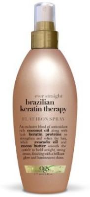OGX Flat Iron Spray Ever Straight Brazilian Keratin Therapy Hair Styler