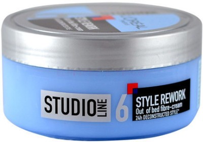 L,Oreal Paris Studio Line 6 Style Rework Out of Bed Fibre-Cream Hair Styler