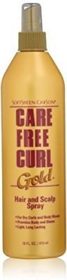 Care Free Curl Gold Hair Scalp Spray Hair Styler