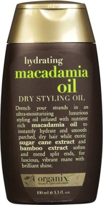 Organix Dry Styling Oil, Hydrating Macadamia Hair Styler