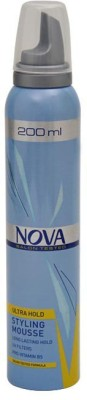 Nova Salon Tested Ultra Hold Styling Mousse Hair Styler