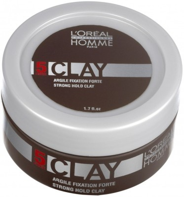 L ,Oreal Paris Homme Strong Hold Clay Hair Styler