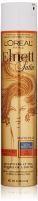 L,Oreal Paris Elnett Satin Hairspray Extra Strong Hold With Uv Filter For Color Treated Hair Hair Styler