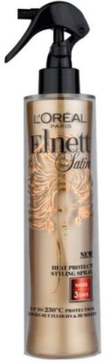 L,Oreal Paris Elnett Satin Heat Protect Styling Spray Waves 3 Days Upto 230,C Protection Hair Styler
