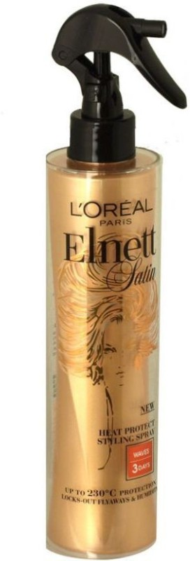 L'Oreal Paris Elnett Satin Styling Heat Protection Spray Hair Styler