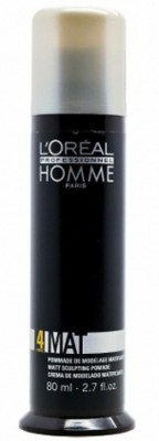L ,Oreal Professional Homme Force 4 Mat-Sculpting Pomade Hair Styler
