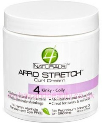 4 Naturals Afro Stretch Curl Cream 4 Kinky Coily Hair Styler