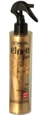 L,Oreal Paris Elnett Satin Heat Styling Spray Volume 3 Days Heat Protect Hair Styler