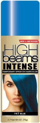 High Beams Intense Temporary Spray On Hair Color Headbangin Blue #47 Hair Styler