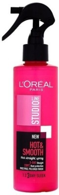 L'Oreal Paris Studio Line Hot and Smooth Straight Spray 3day Heat Protector Hair Styler at flipkart