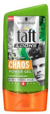 Schwarzkopf Taft Looks Chaos Power Gel Ultra Strong Hold 5 Hair Styler