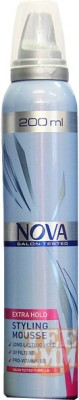 Nova Salon Tested Extra Hold Styling Mousse Hair Styler